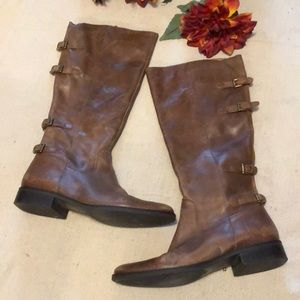 Matisse distressed leather riding boots